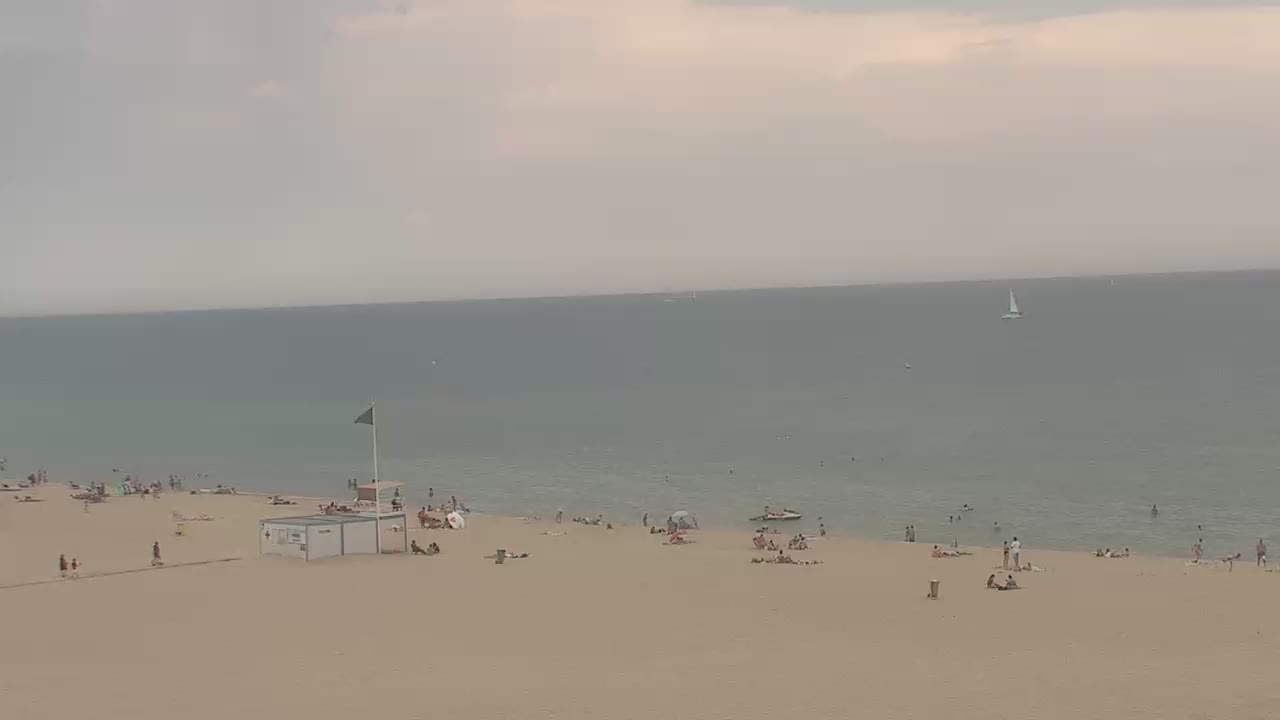 Webcam sur la plage du Grand Large de Canet-en-Roussillon
